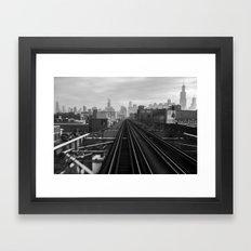 Pink Line Framed Art Print
