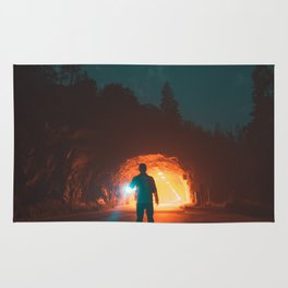 Searching The Tunnels Of Yosemite Rug