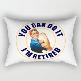 Retired Rosie the Riveter Rectangular Pillow