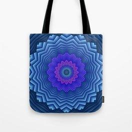 mandalas blue and violet -3- Tote Bag