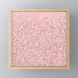 Blush Pink Glitter Framed Mini Art Print