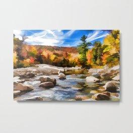 Saco River Painting Metal Print