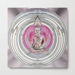 Love Meditation Bubble Metal Print