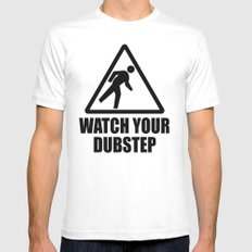 watch your dubstep v2 Mens Fitted Tee MEDIUM White