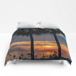 Newport Palm Sunset Comforters