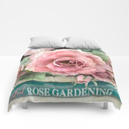 Roses Pink Peach Romantic Rose Flowers Gardening Decor Comforters