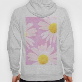 Flowers and dots on a pink background - lovely summery - #daisy #society6 #buyart Hoody