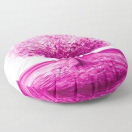 Pink tree landscape Floor Pillow