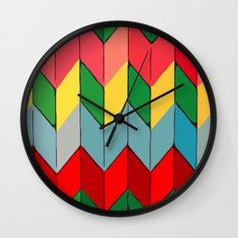 Modern art - Rainbow Fold Wall Clock