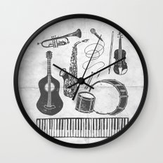 Weapons Of Mass Creation - Music (on paper) Wall Clock