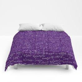 Math Equations // Purple Comforters