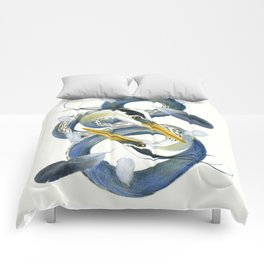 A Couple Of Herons Comforters