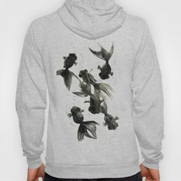 Black Moor, Feng Shui art, black fish zen painting Hoody