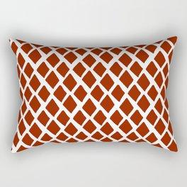 Rhombus Red And White Rectangular Pillow