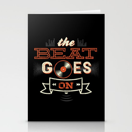 The Beat Goes On Stationery Cards