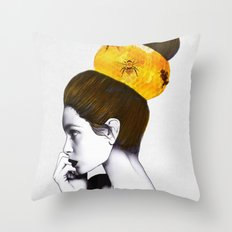 The Bee Hive Throw Pillow