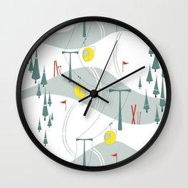 Retro Ski Wall Clock