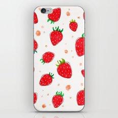 Draw strawberry iPhone & iPod Skin