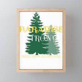 paradise camp fire california strong vintage shirt californi Framed Mini Art Print