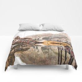 braies lake Comforters