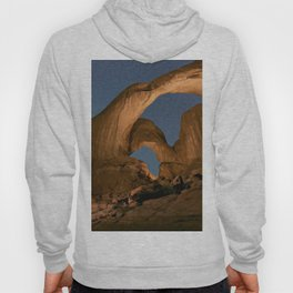 Double Arch And The Milky Way - Arches National Park - Moab, Utah. Hoody
