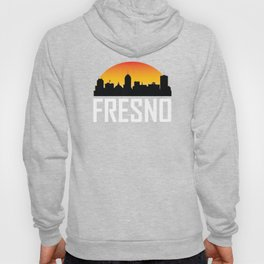 Sunset Skyline of Fresno CA Hoody