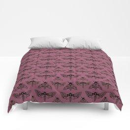 Purple Deaths Head Hawk Moth Pointillism Comforters