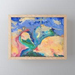 Watercolor Series (Exploding Flower) Framed Mini Art Print