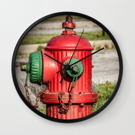 Profile of Fluted TCIW Fire Hydrant Traverse City Iron Works Fireplug Wall Clock