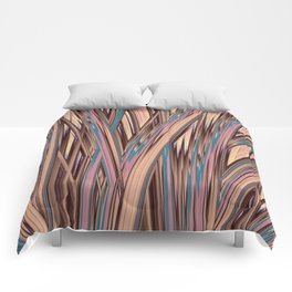 LYON pink peach turquoise brown glowing tall grass Comforters