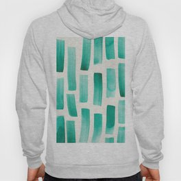 Stripe Forest Green   190213 Watercolour Abstract Painting Hoody