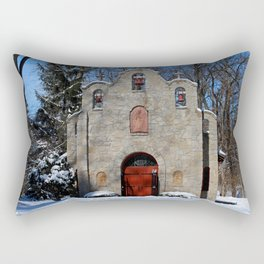 Portiuncula Chapel in Winter I Rectangular Pillow