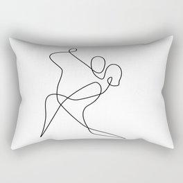 minimal line dance Rectangular Pillow
