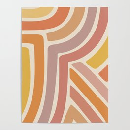 Abstract Stripes IV Poster