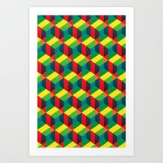 Construct (colour) Art Print
