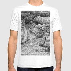 Fingerprint - Sailing MEDIUM White Mens Fitted Tee