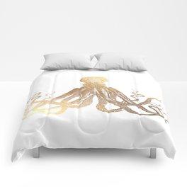 Gold Octopus  Comforters