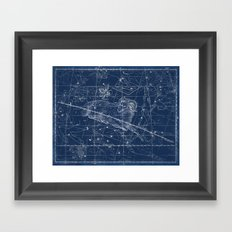 Aries sky star map Framed Art Print