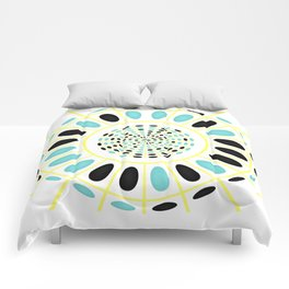 Wheel on white Comforters