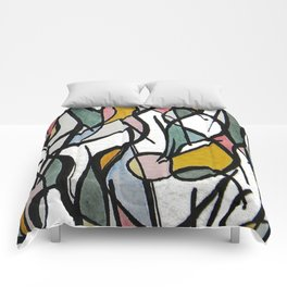 Geometric Abstract Watercolor Ink Comforters