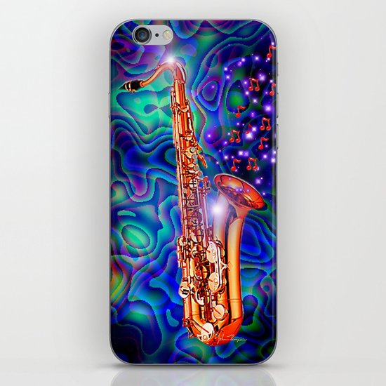 Saxophone iPhone & iPod Skin