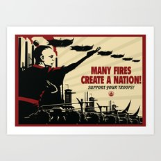 Many Fires Create a Nation Art Print