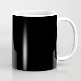 Gold Halftone Line on Black Coffee Mug