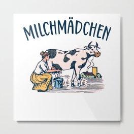 Milchmädchen Molkerei retro Metal Print