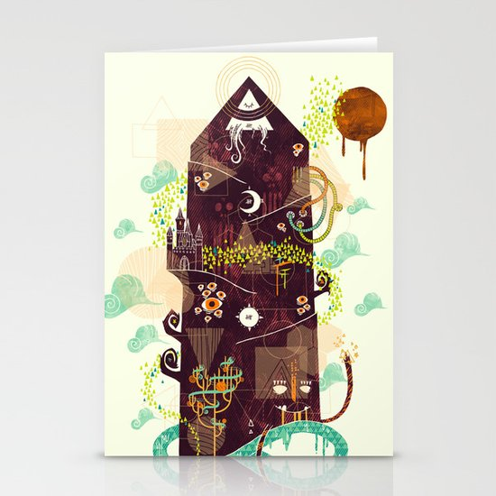 The Ominous and Ghastly Mont Noir Stationery Cards