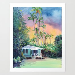 Dreams of Kauai Plantation Cottage Art Print