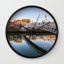 River Liffey Reflections Wall Clock