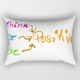 Think Positive Rectangular Pillow