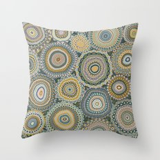 Boho Patchwork-Mineral Colors Throw Pillow