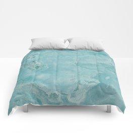 Turquoise Sea Marble Comforters